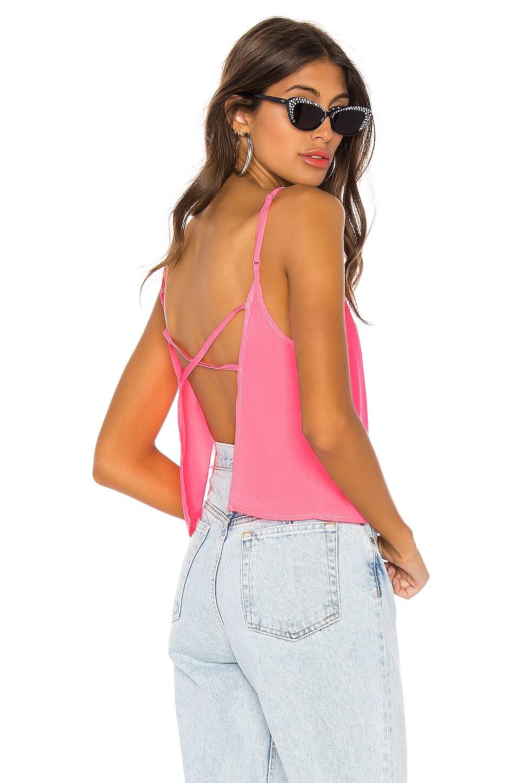 superdown Ivana Open Back Top in Neon Pink