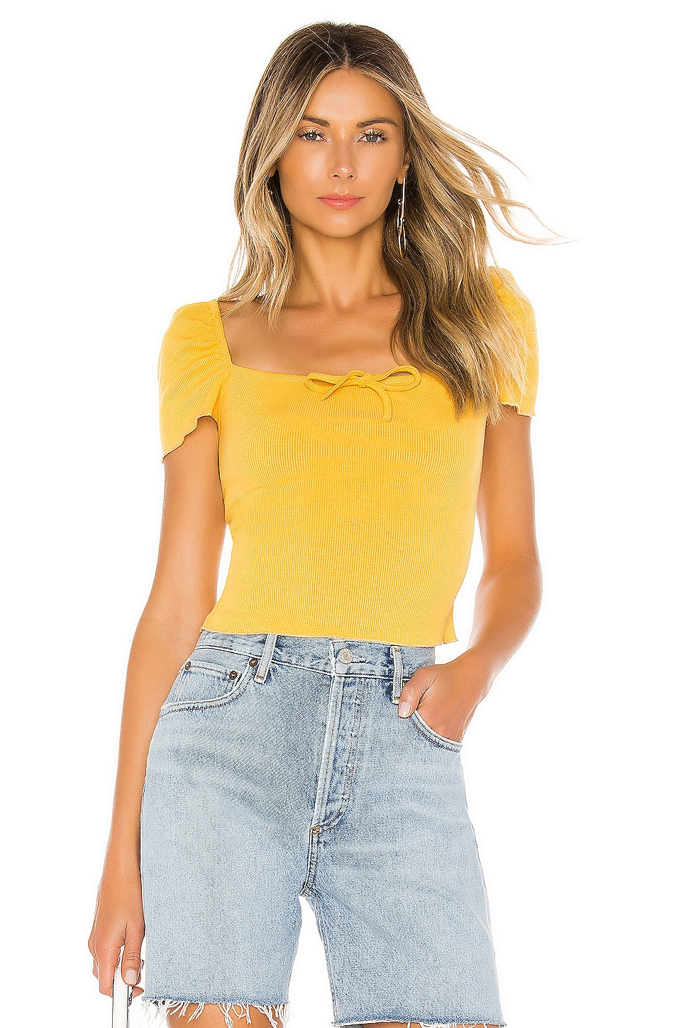superdown Sofie Top en Yellow