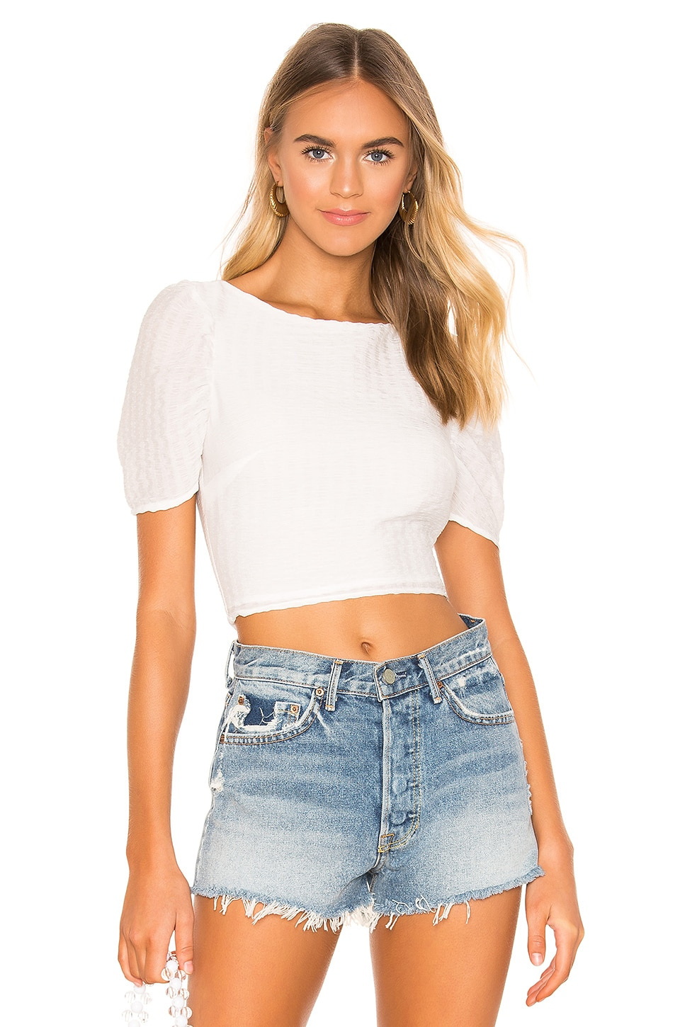 superdown Cindy Crop Top in White
