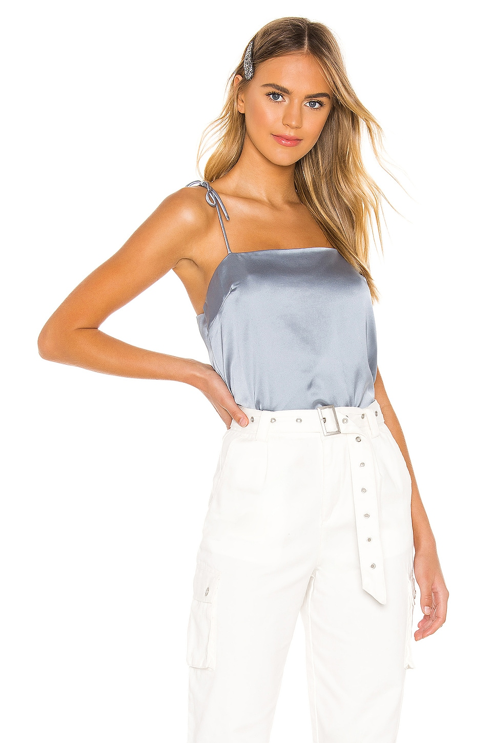 superdown Angelique Cami Top in Dusty Blue