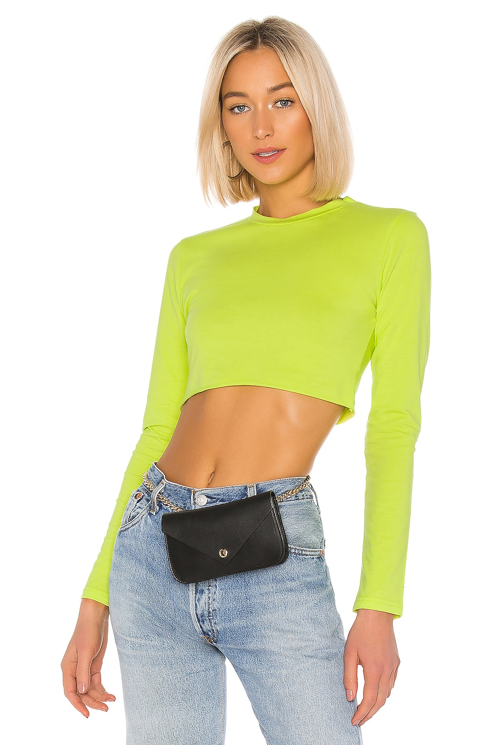 superdown Cynthia Boxy Top in Lime