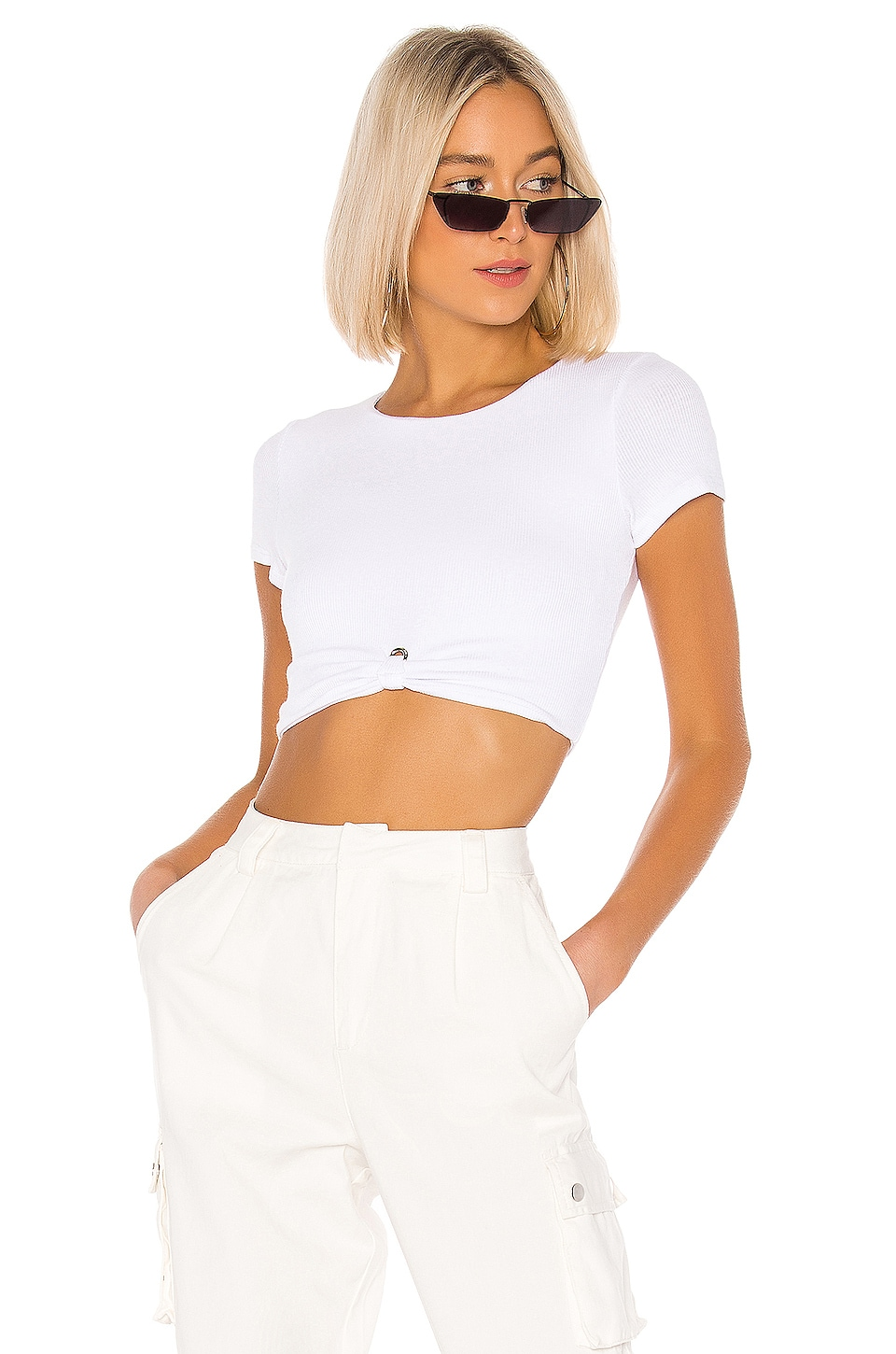 superdown Laia Cropped Tee in White