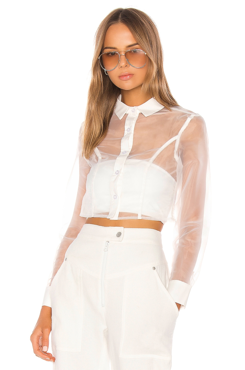 superdown Helena Button Up Top in White