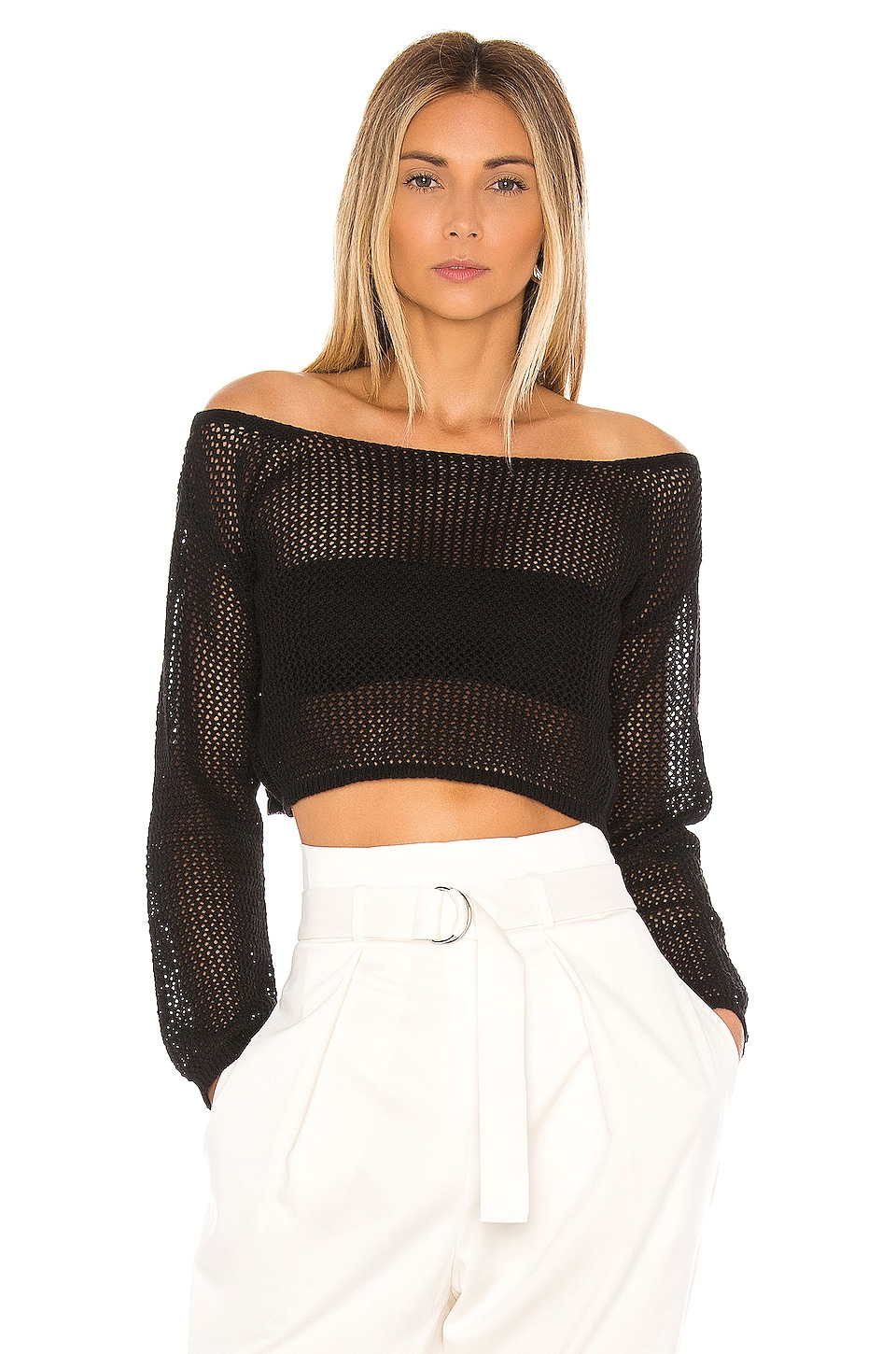 superdown TOP CROPPED MAILLE CROCHET ABBY