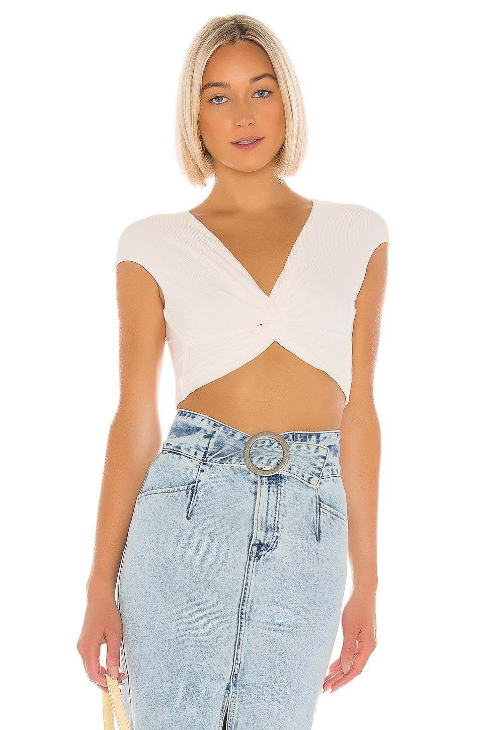 superdown Robyn Twist Front Top in White