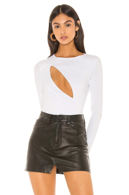 superdown Mona Cut Out Bodysuit in White