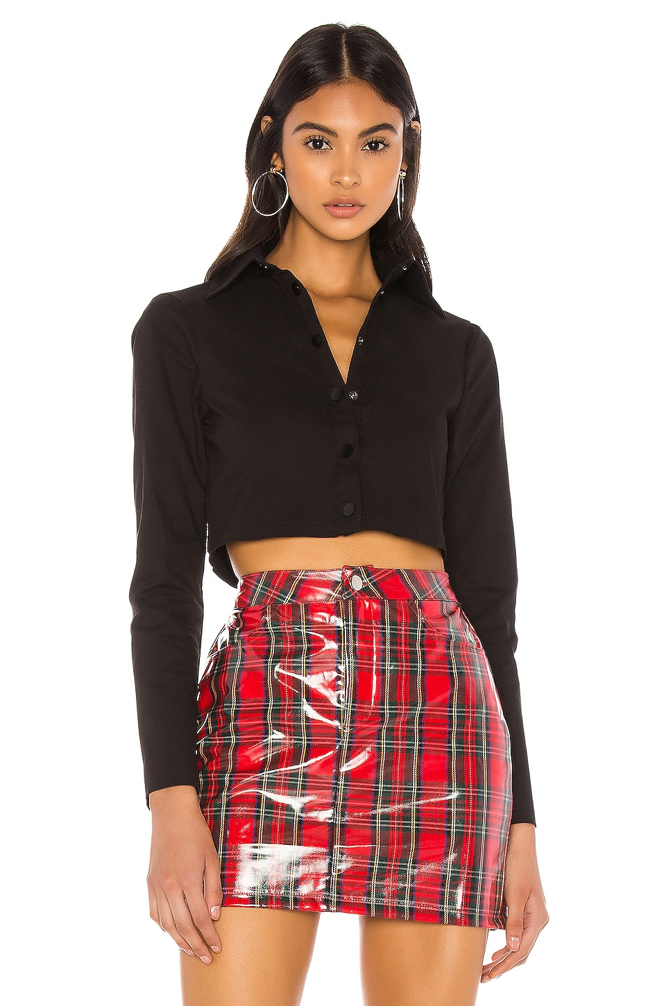 superdown Nataly Crop Top in Black