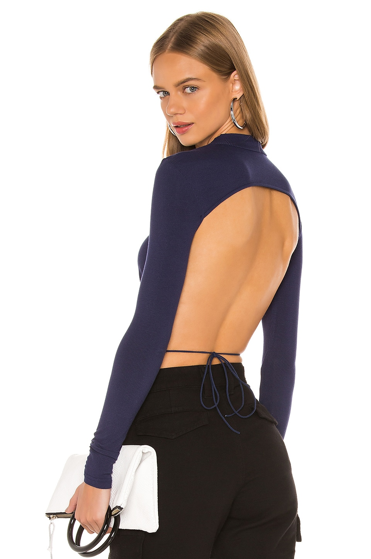 superdown Rhea Tie Back Top in Blue
