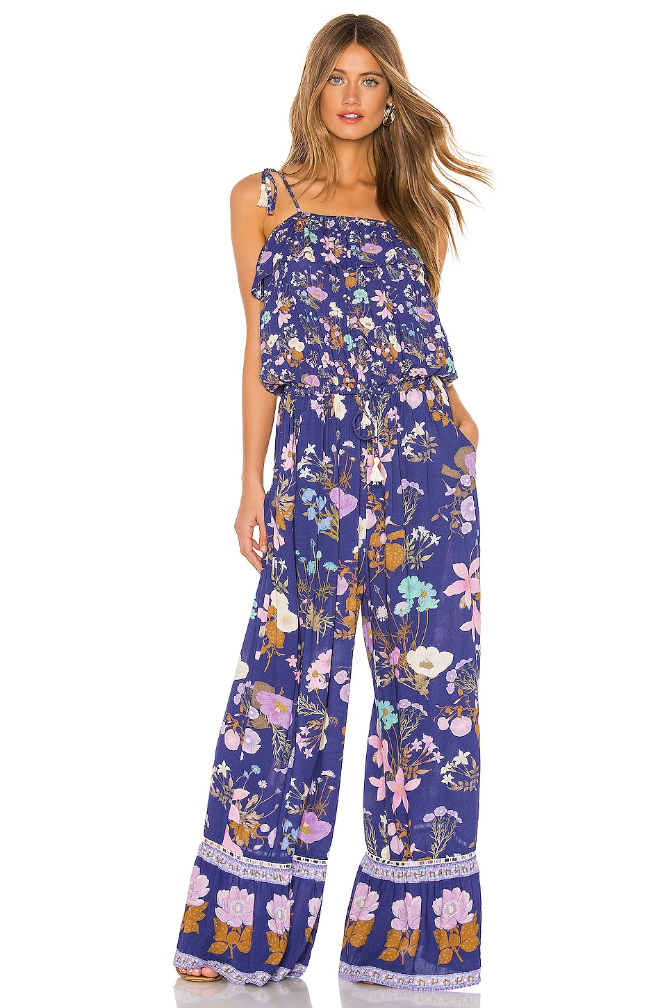 Spell & The Gypsy Collective Wild Bloom Strappy Pantsuit in Navy