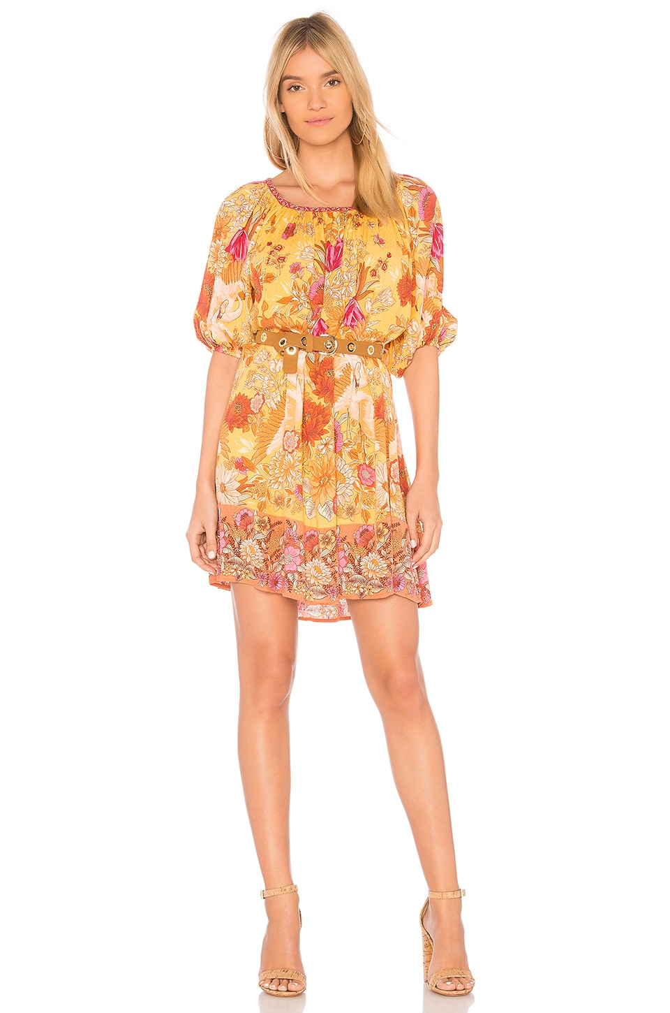 Spell & The Gypsy Collective Siren Song Smock Dress in Marigold
