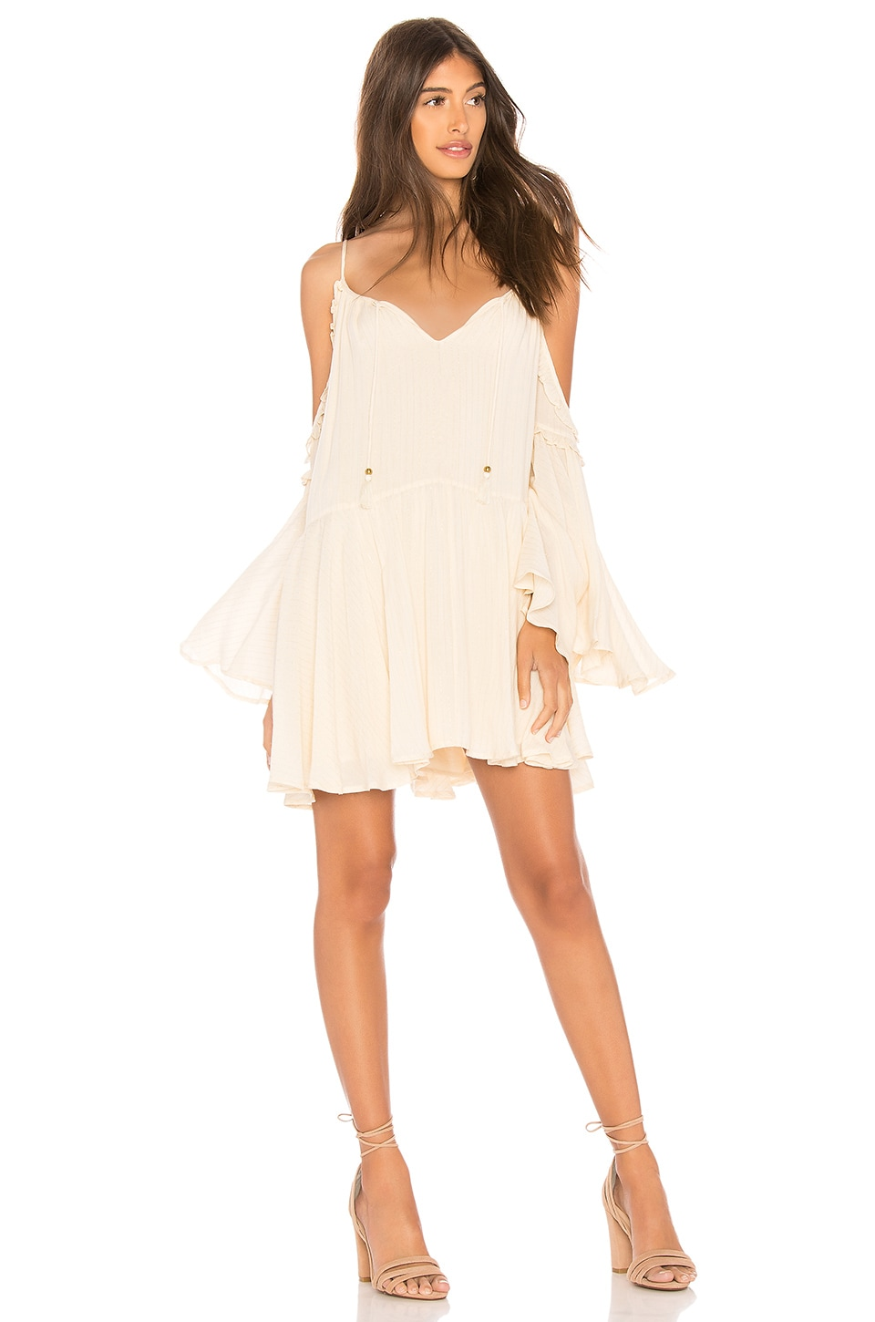Spell & The Gypsy Collective Florence Mini Dress in Creme Brulee