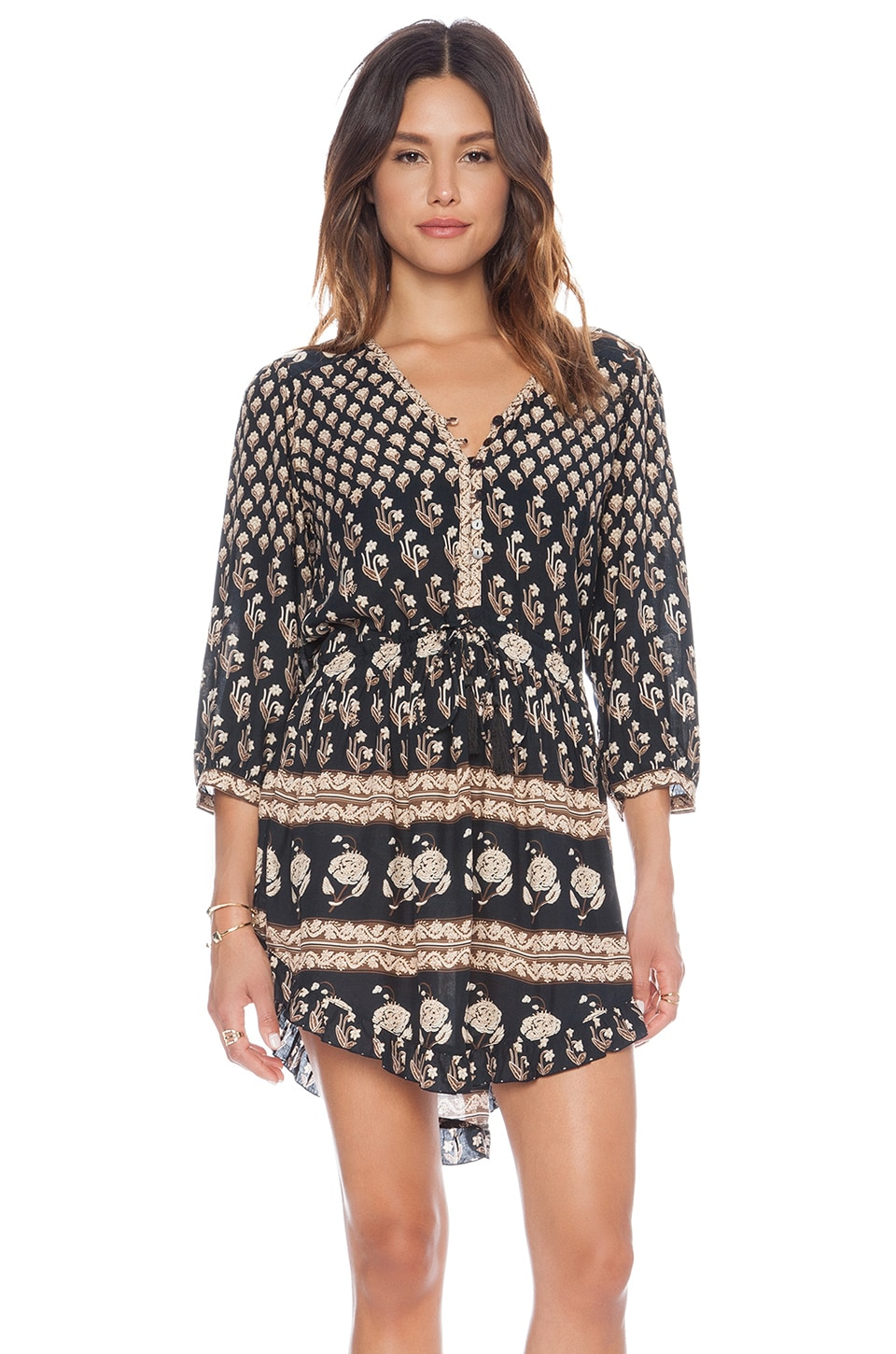 Spell & The Gypsy Collective Bohemian Royale Playdress in Charcoal