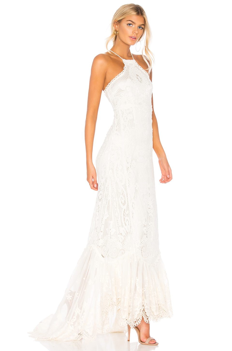 Spell & The Gypsy Collective Casablanca Halter Gown in Off White