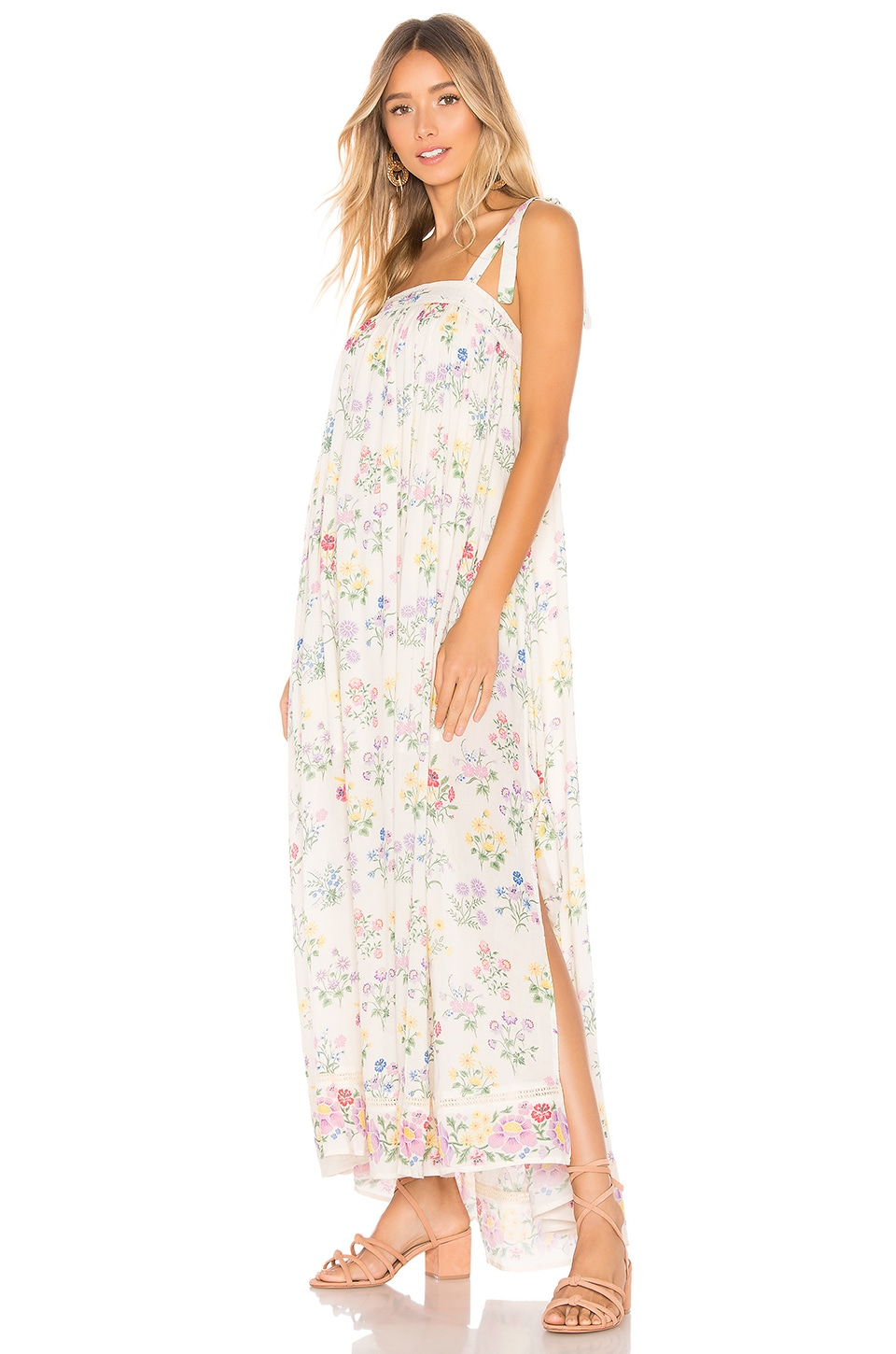 SPELL & THE GYPSY COLLECTIVE Posy Maxi Dress in Cream
