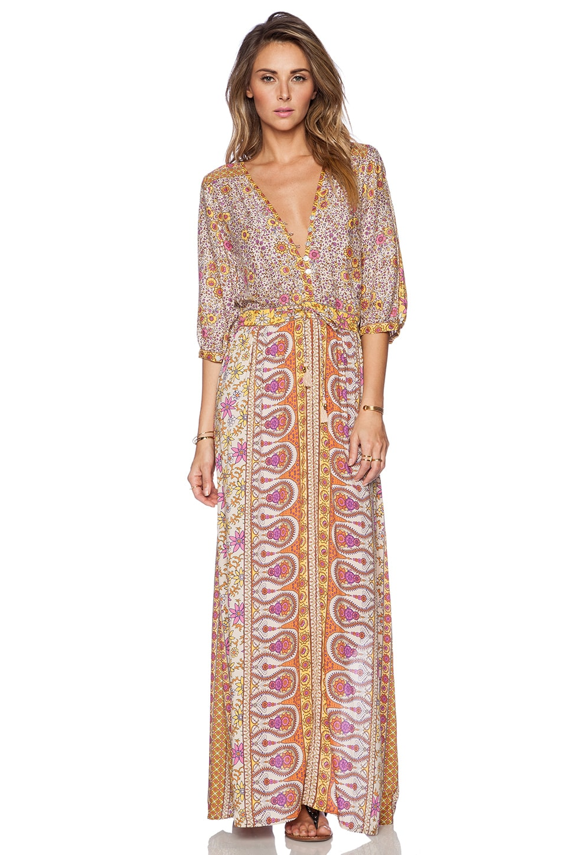 Spell & The Gypsy Collective Boho Blossom Maxi Dress in Saffron