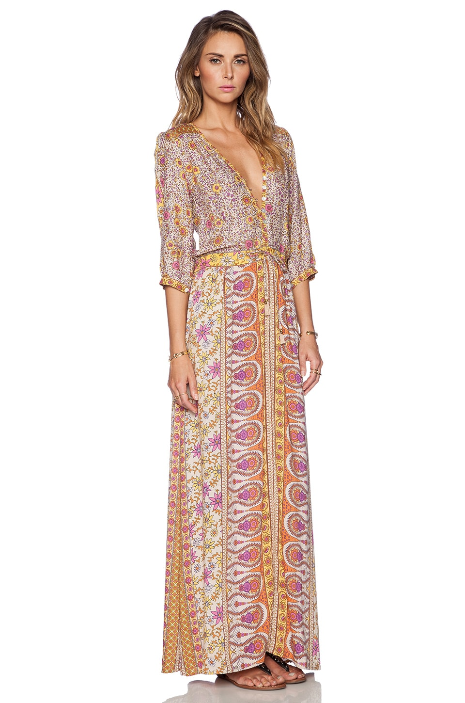Spell & The Gypsy Collective Boho Blossom Maxi Dress in Saffron ...
