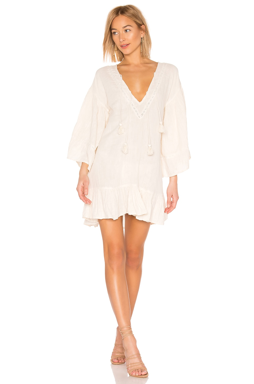 SPELL & THE GYPSY COLLECTIVE Lotti Veggie Dry Mini Dress in Cream