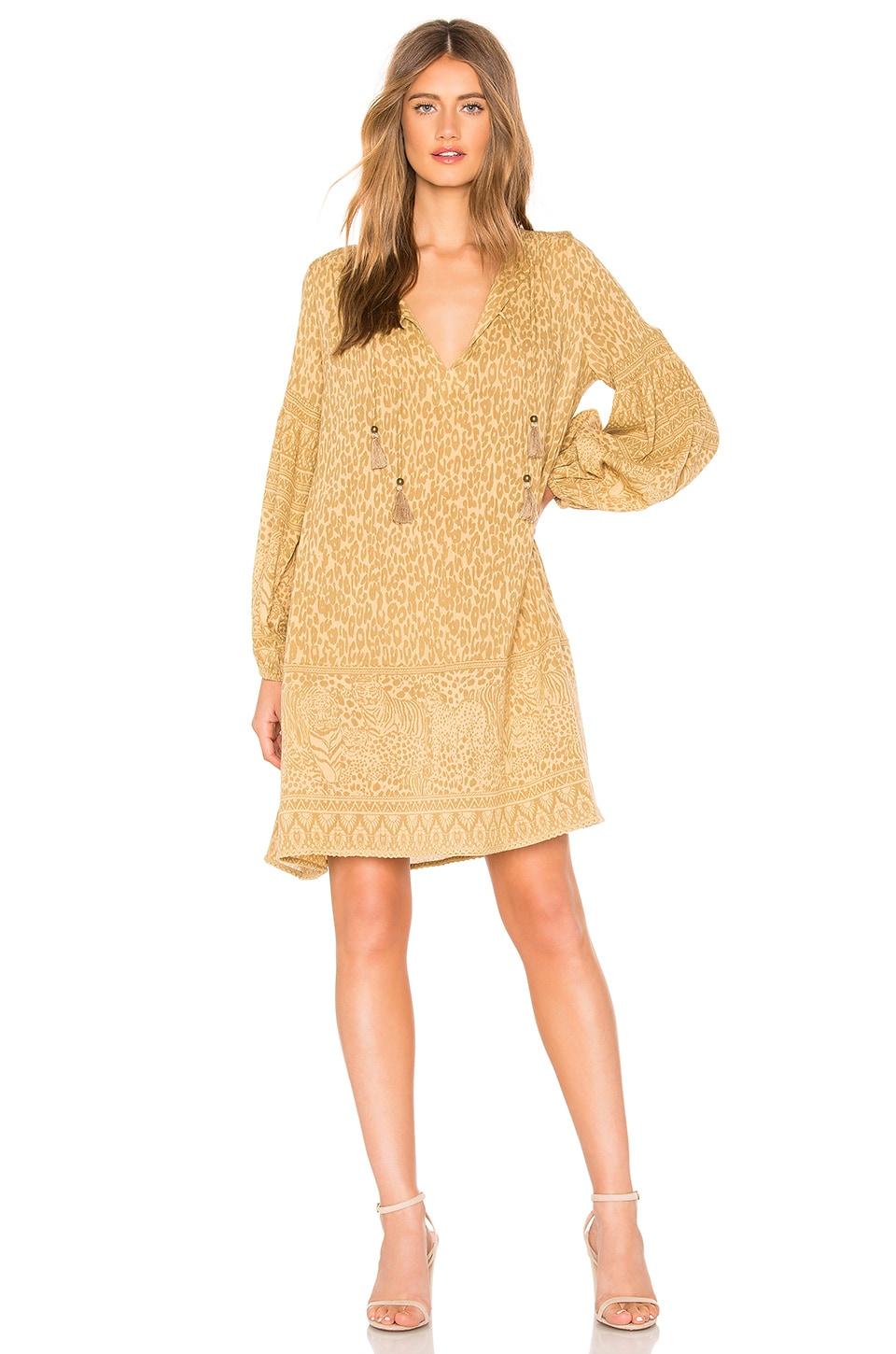 SPELL & THE GYPSY COLLECTIVE Wild Thing Tunic Dress in Brown