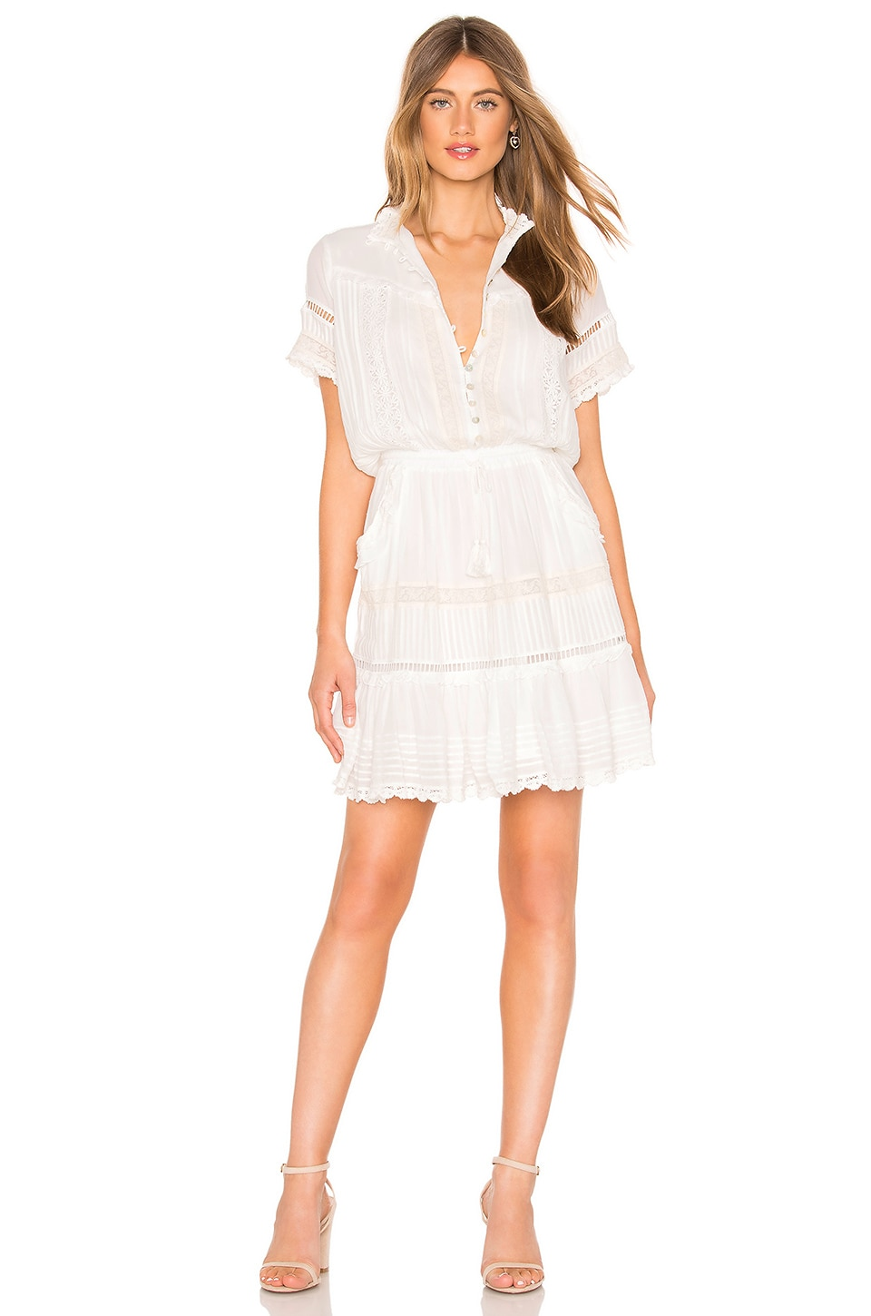 SPELL & THE GYPSY COLLECTIVE Hanging Rock Lace Dress in White