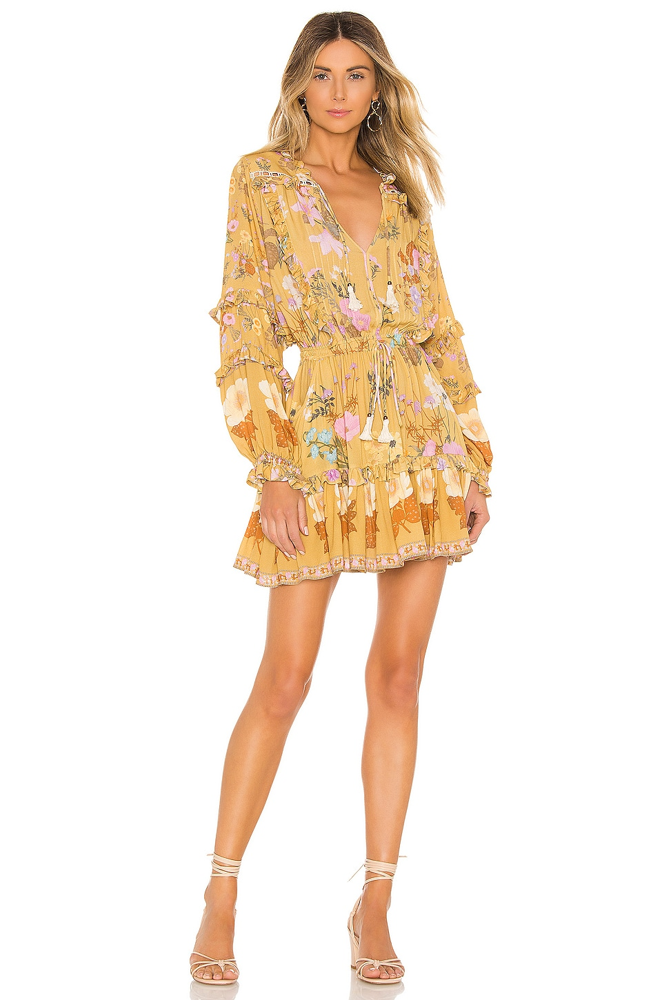 Spell & The Gypsy Collective Wild Bloom Playdress en Mustard