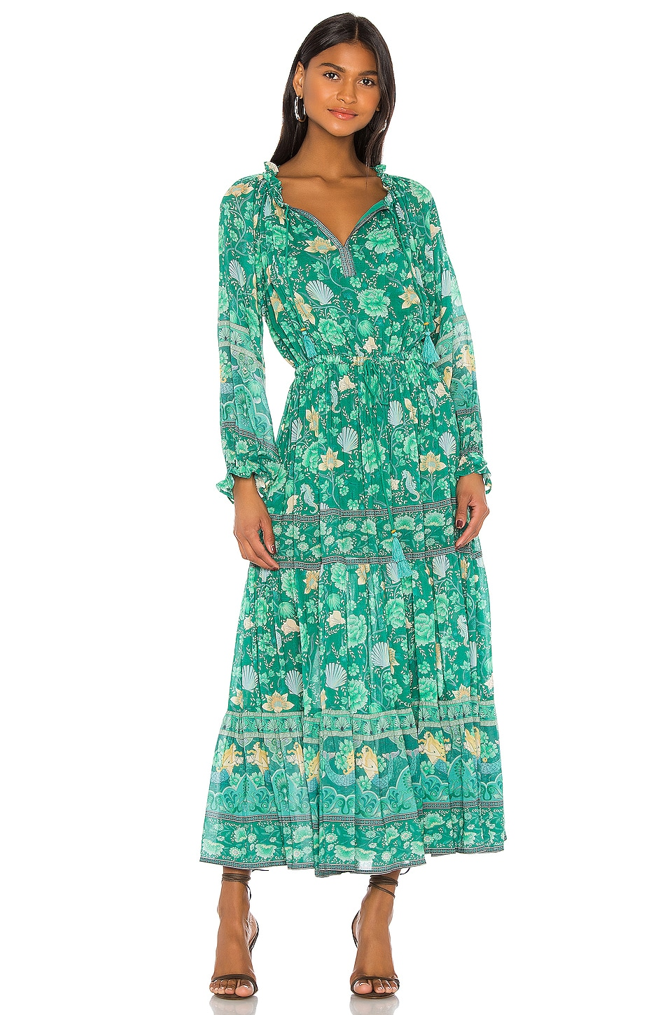 Spell & The Gypsy Collective x REVOLVE Seashell Gown in Kelley Green