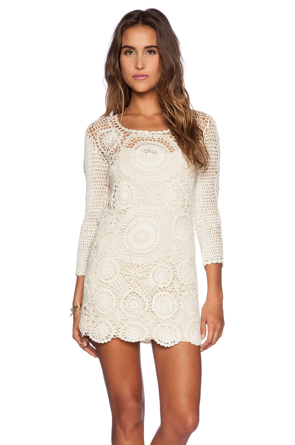 How Do You Spell Crochet : Spell & The Gypsy Collective HAVANA ??? in Cream REVOLVE