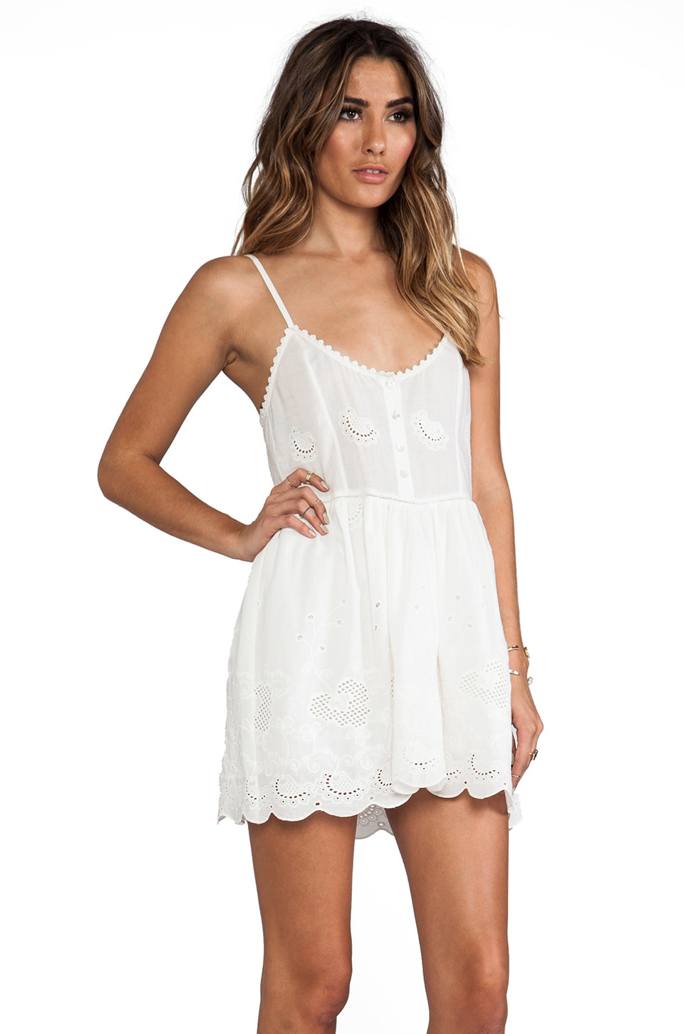 Spell &amp The Gypsy Collective Indian Summer Sun Dress in White ...