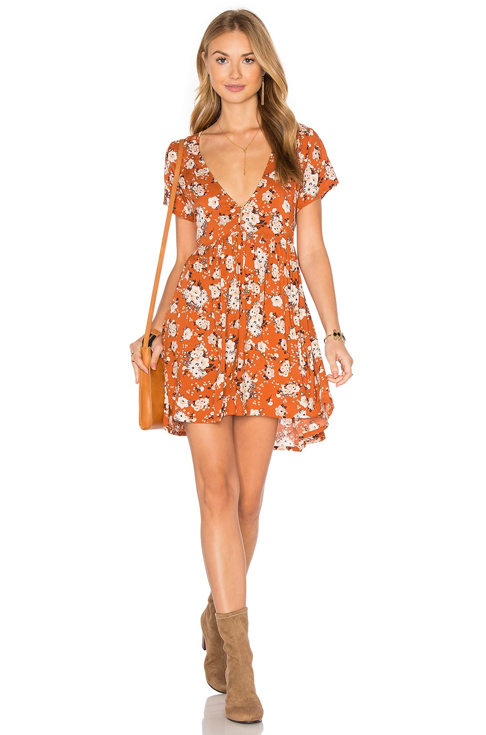 Spell & The Gypsy Collective Gypsy Dancer Dress in Maple