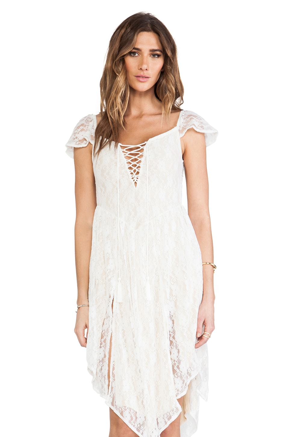 Spell & The Gypsy Collective Glastonbury Lace Dress in White