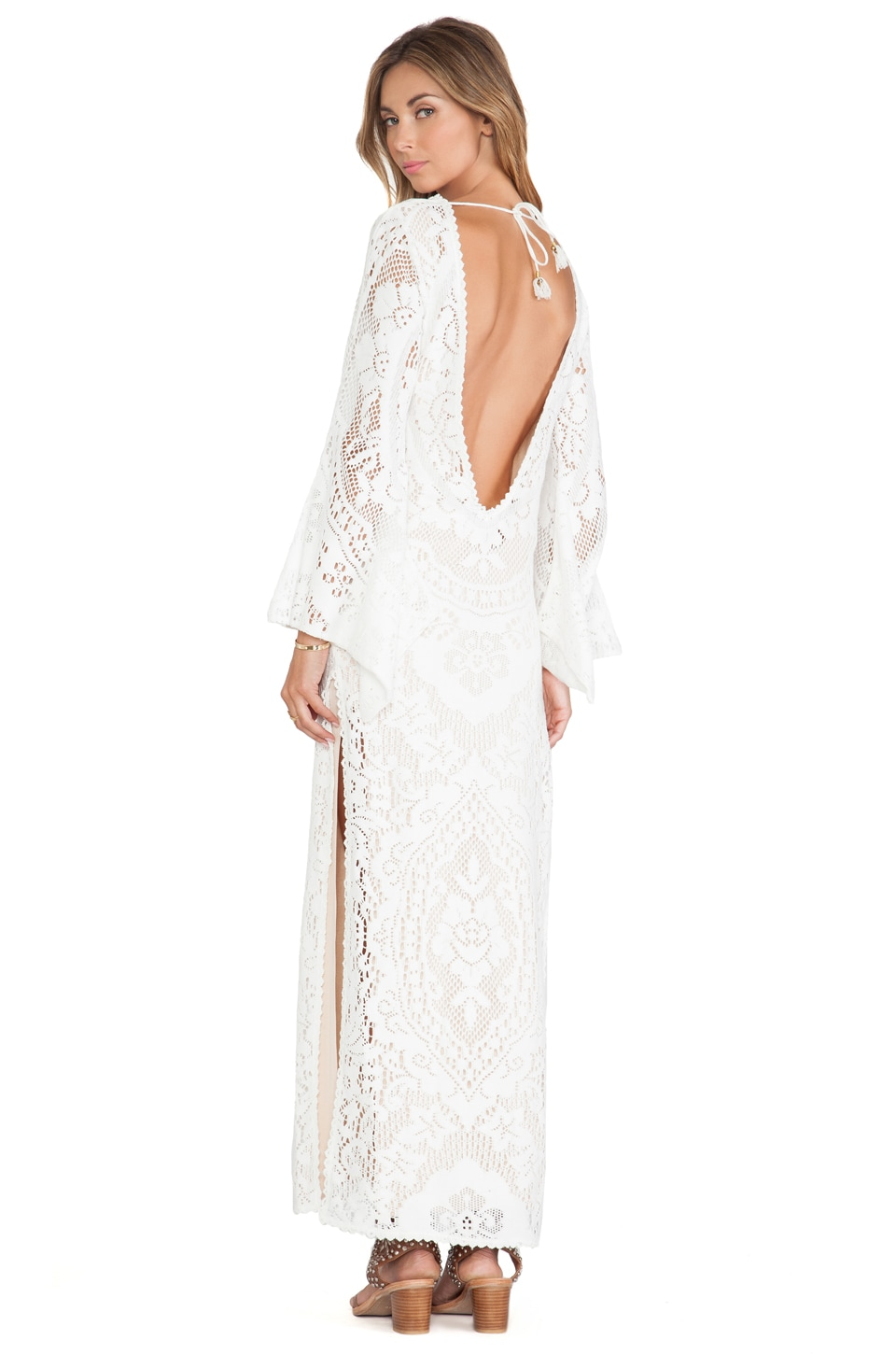 Spell & The Gypsy Collective ROBE MAXI WHITE DOVE