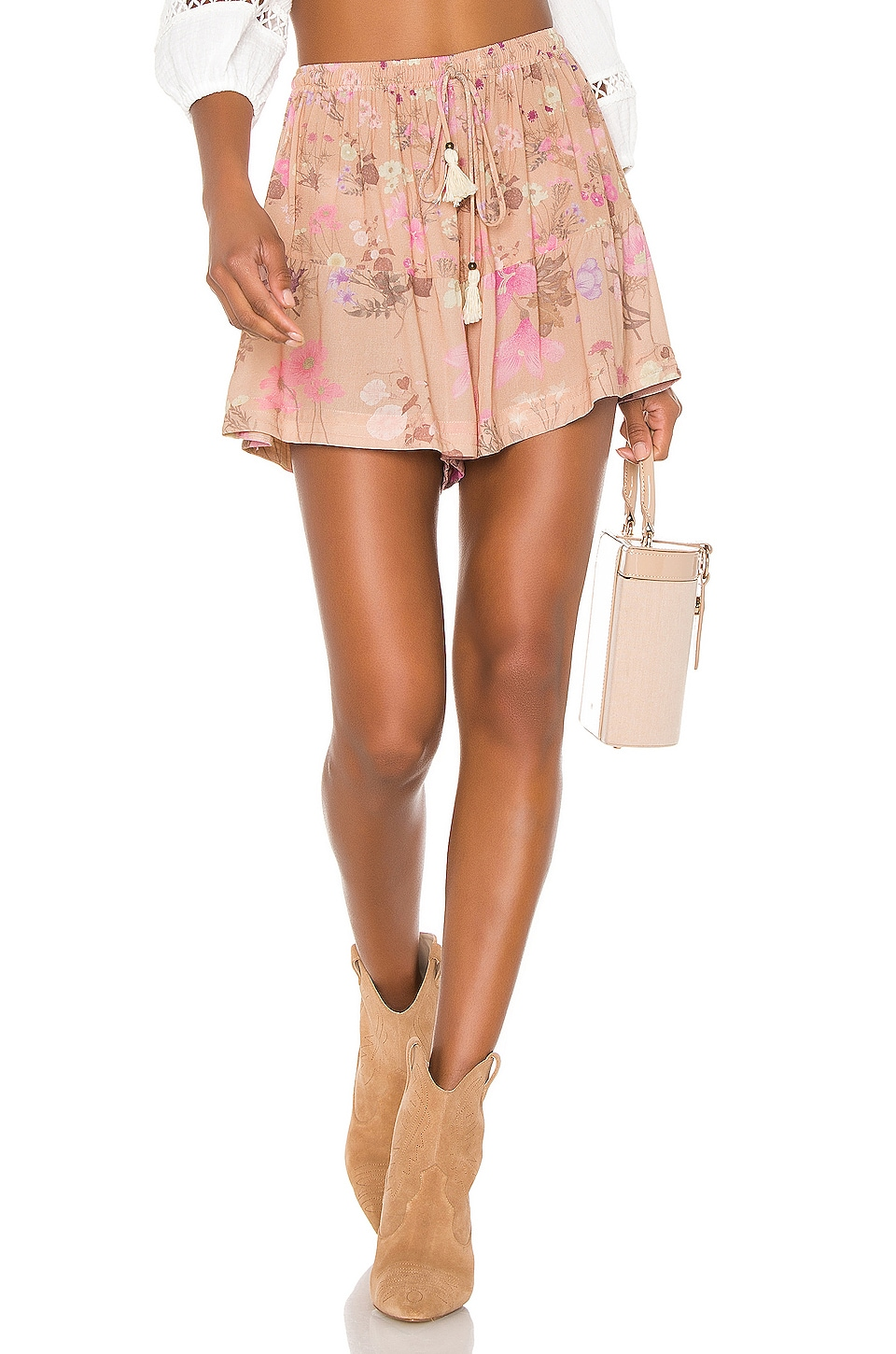 Spell & The Gypsy Collective Wild Bloom Shorts in Blush