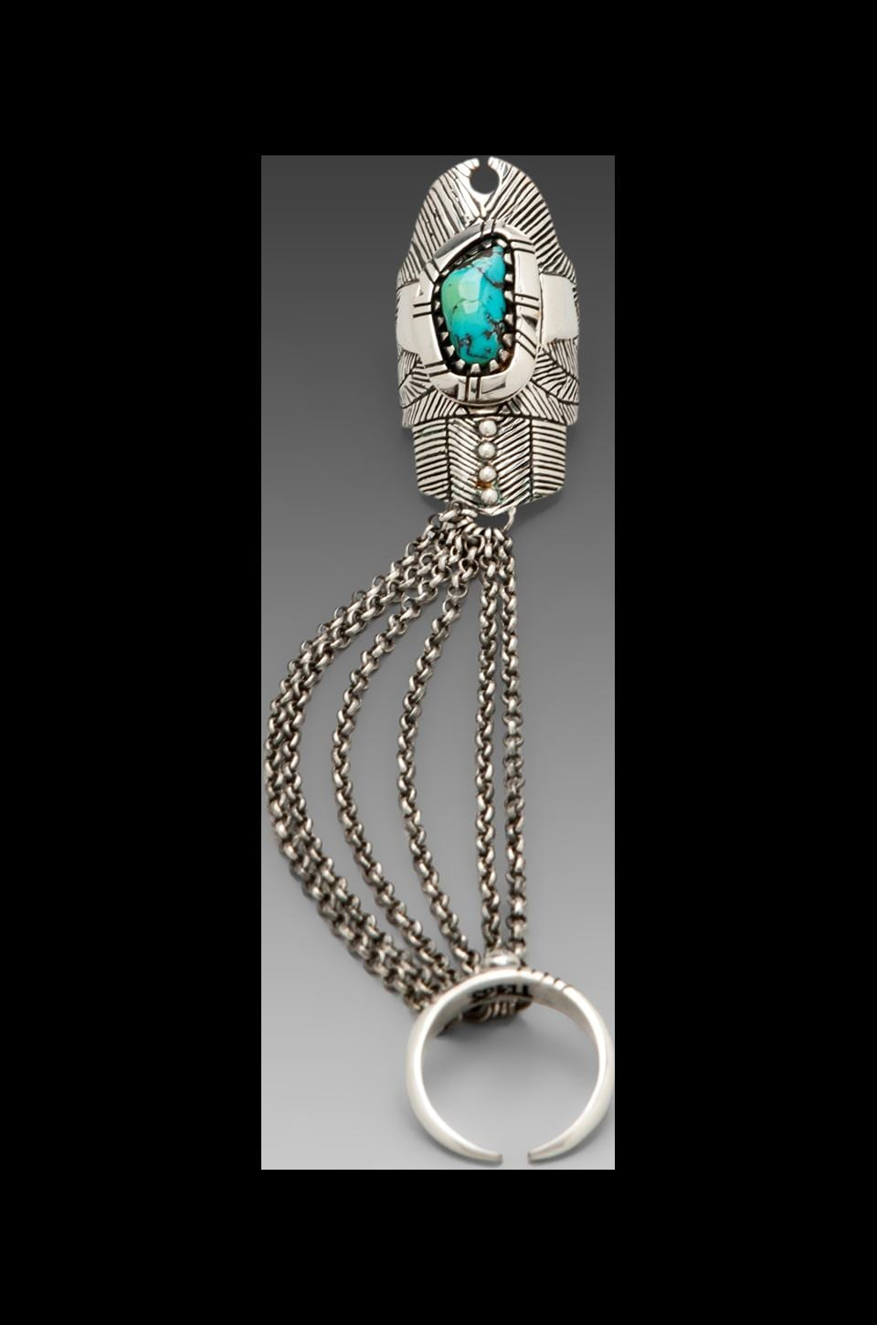 Spell & The Gypsy Collective Thunderstruck Slave Ring in Turquoise