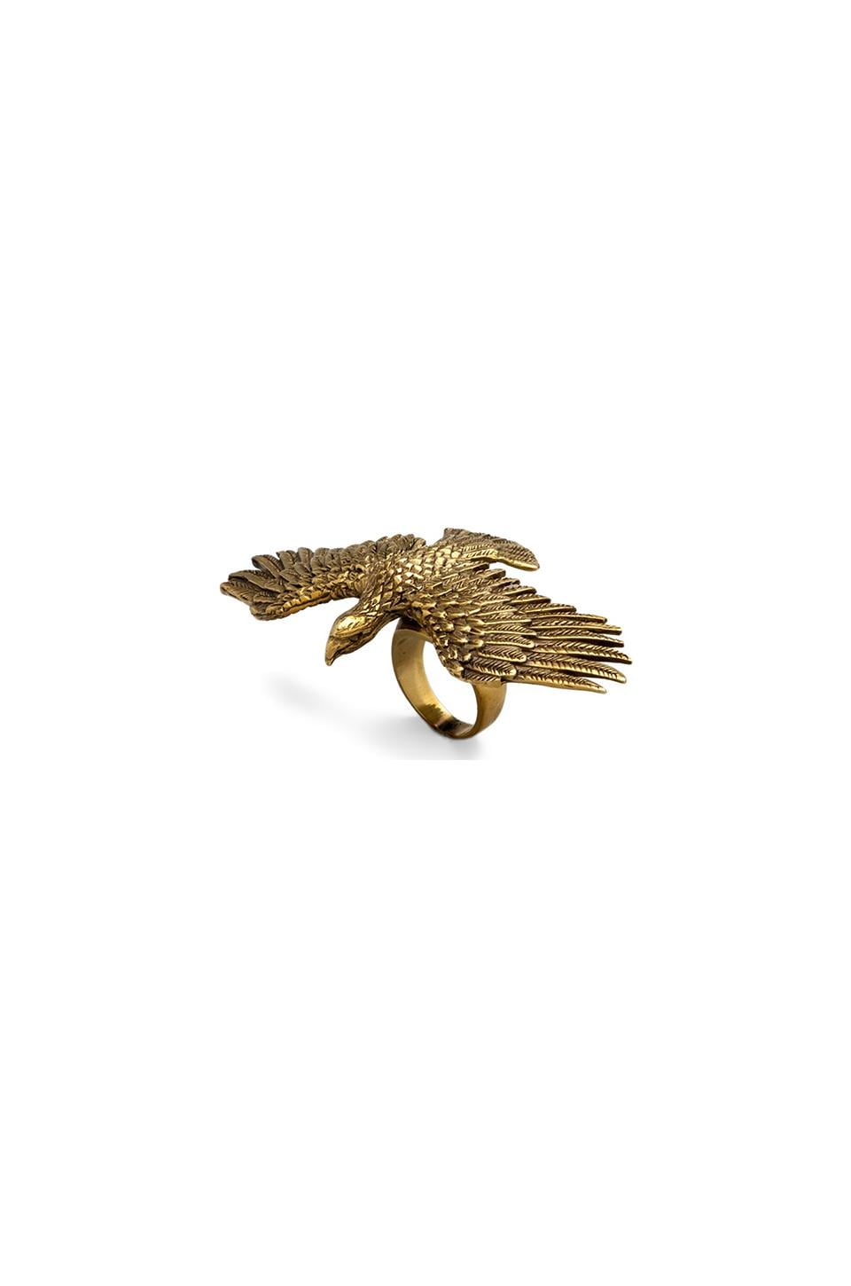 Spell & The Gypsy Collective Etana Eagle Ring in Brass