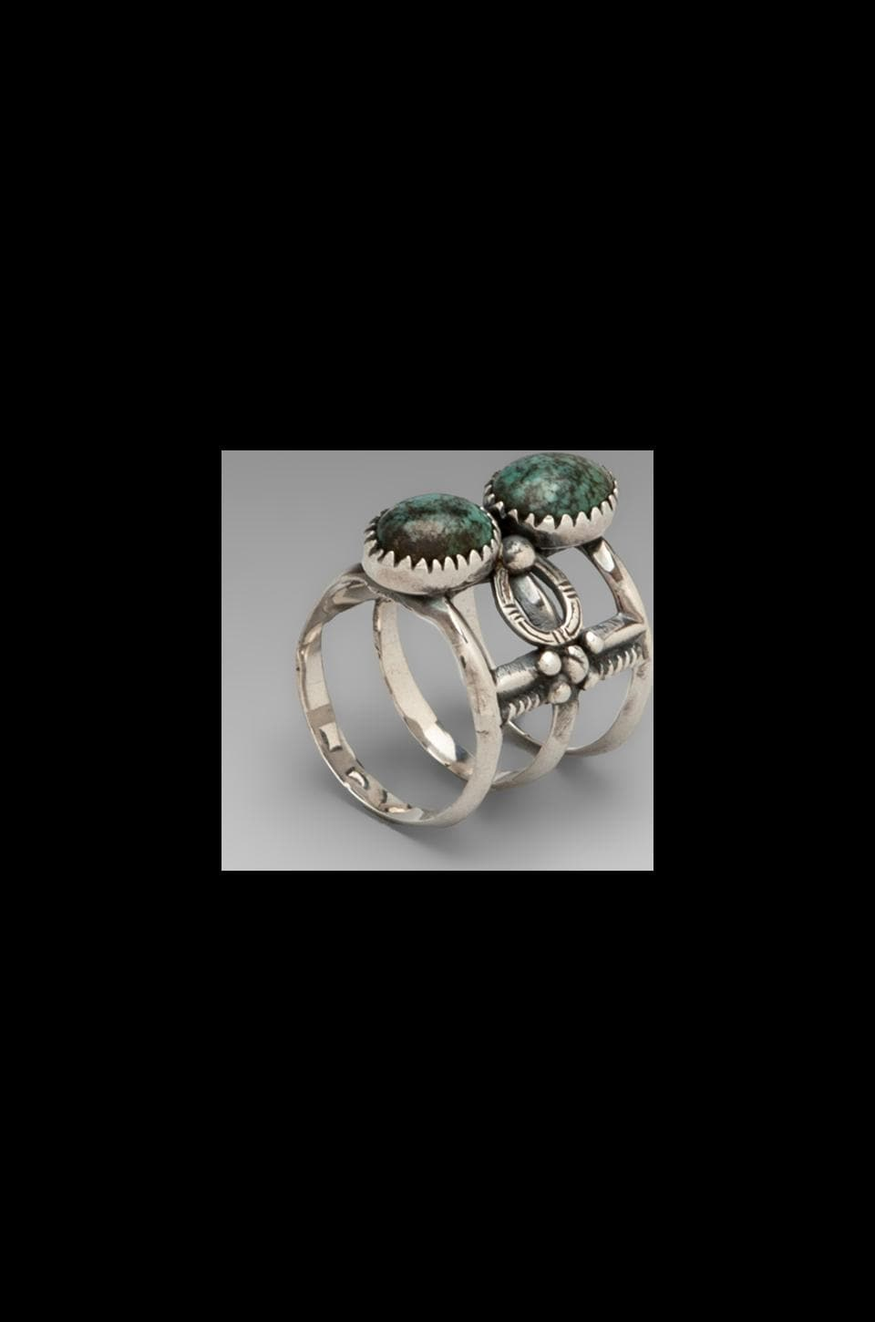 Spell & The Gypsy Collective The Coyote Finger Cuff Ring en Turquoise
