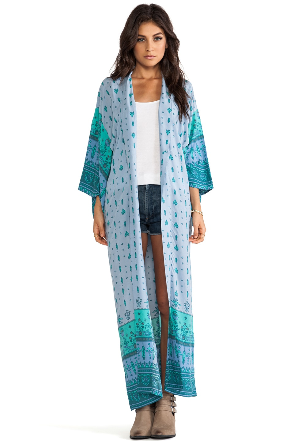 Spell & The Gypsy Collective Desert Wanderer Kimono in Dawn