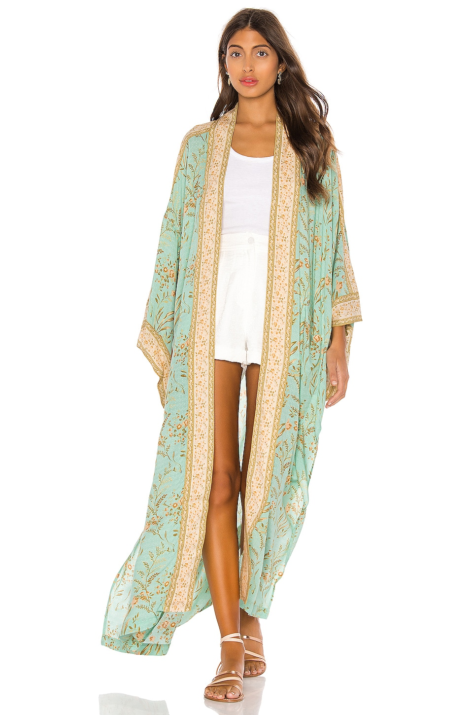 Spell & The Gypsy Collective Maisie Maxi Kimono in Vintage Turquoise
