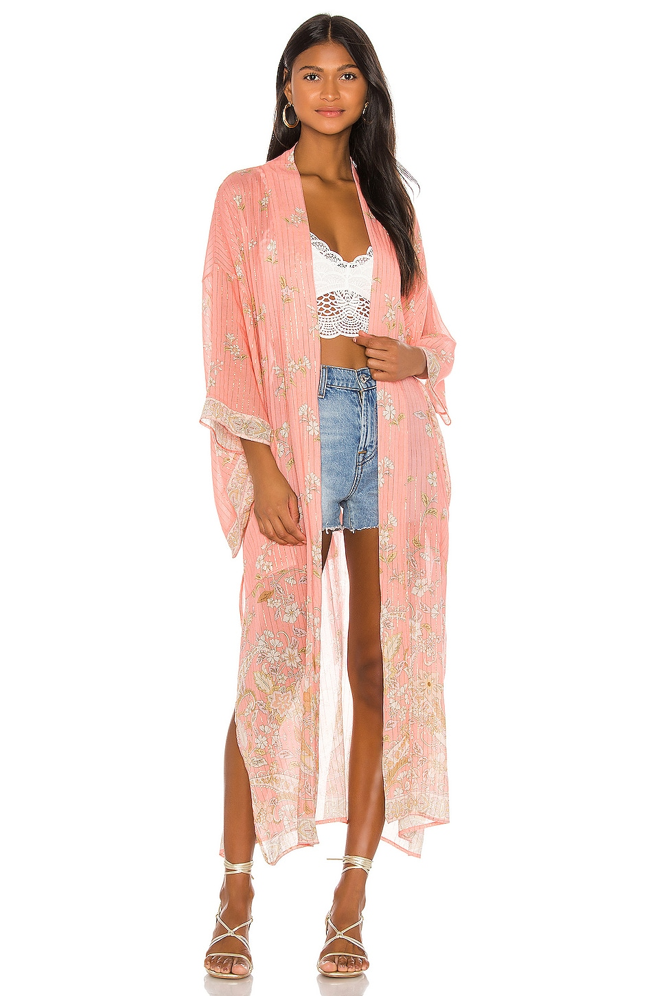Spell & The Gypsy Collective Hendrix Robe en Dusty Pink