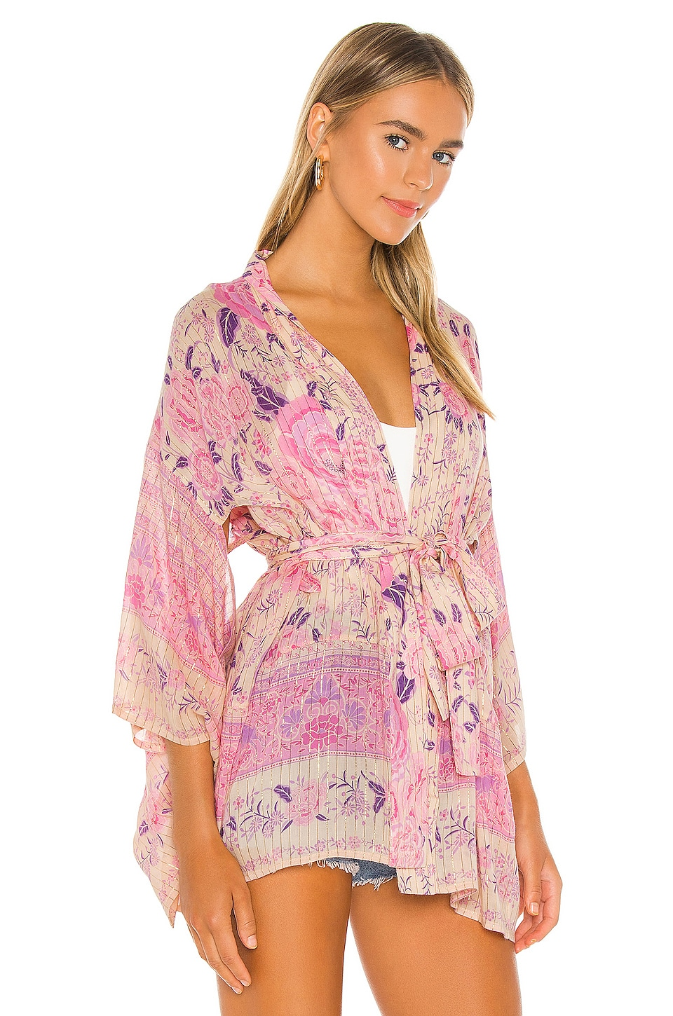 x REVOLVE Mystic Short Robe, view 3, click to view large image.
