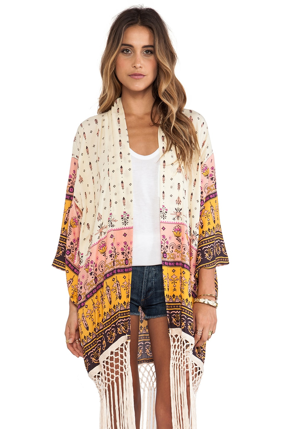 Spell & The Gypsy Collective Desert Wanderer Kimono in High Noon