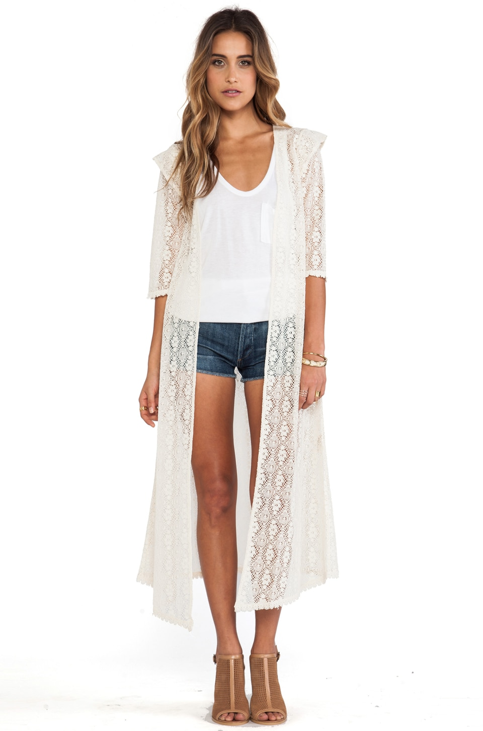 Spell & The Gypsy Collective Phoenix Lace Coat in Cream