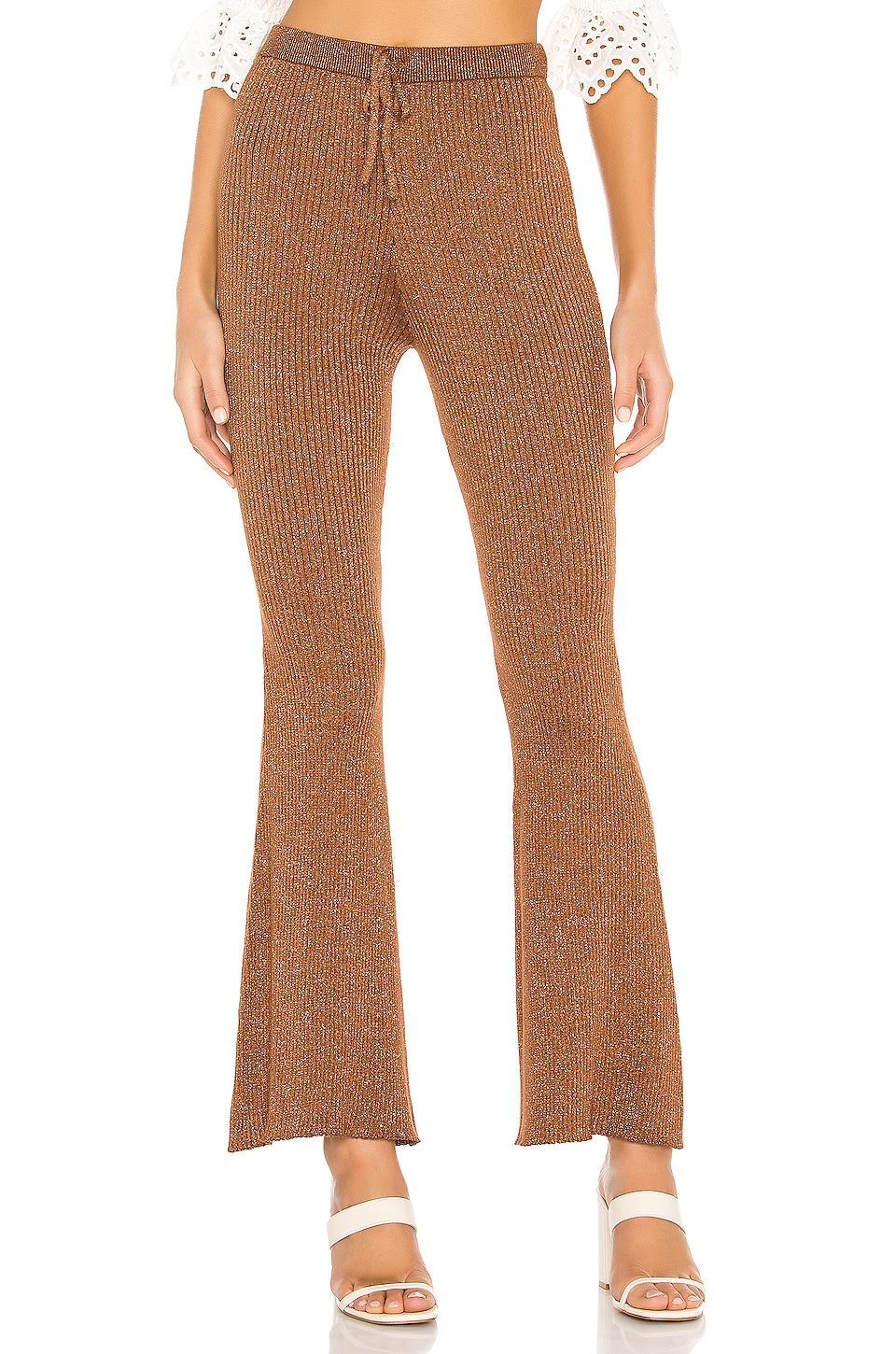 Spell & The Gypsy Collective PANTALON FLARE EN MAILLE MARGOT