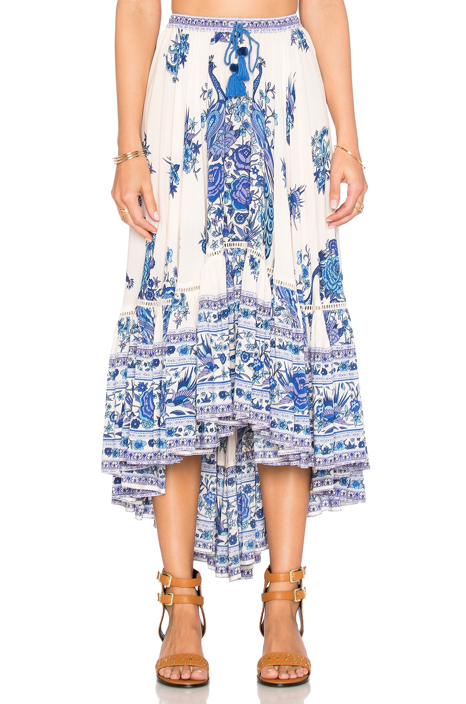 Spell & The Gypsy Collective Hotel Paradiso Castaway Skirt in Bluebird