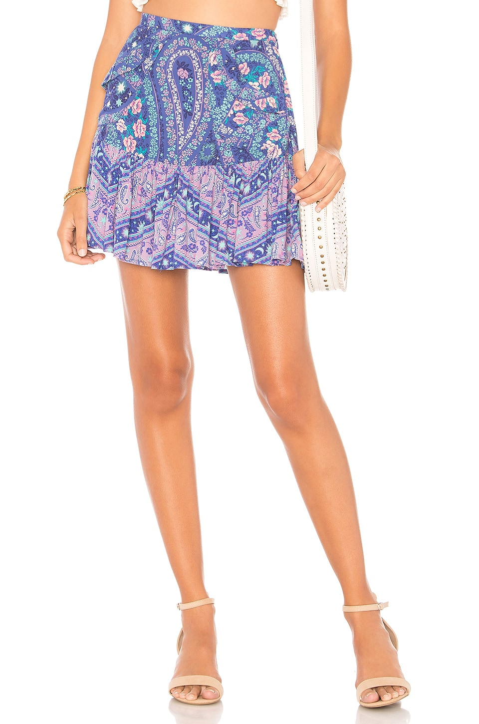 Spell & The Gypsy Collective City Lights Mini Skirt in Indigo