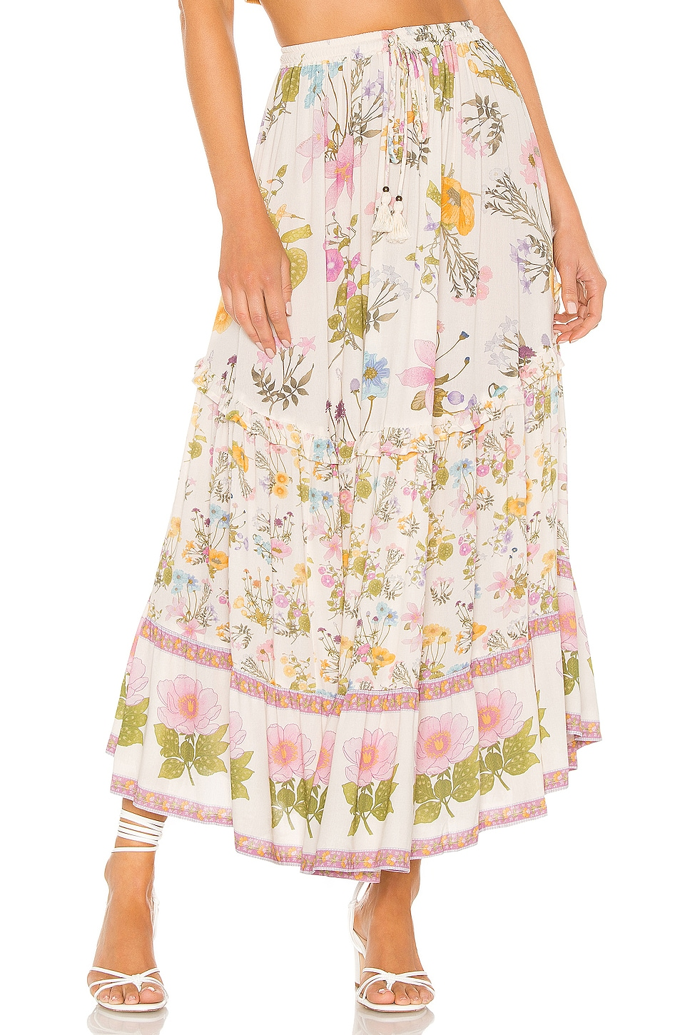 Spell & The Gypsy Collective Wild Bloom Maxi Skirt in Cream