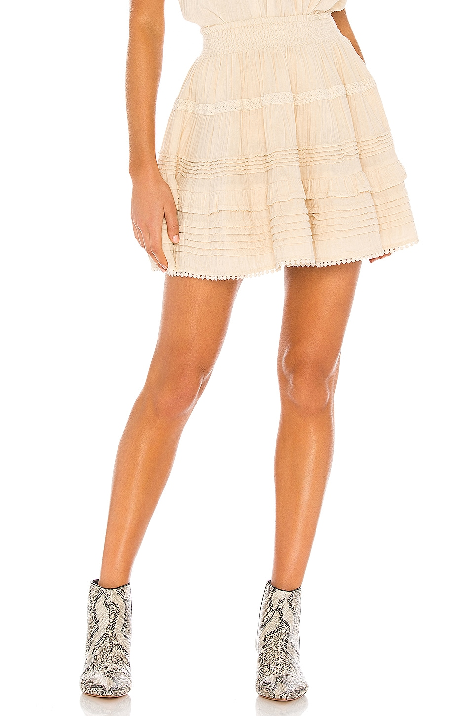 Spell & The Gypsy Collective Hanalei Mini Skirt in Sand