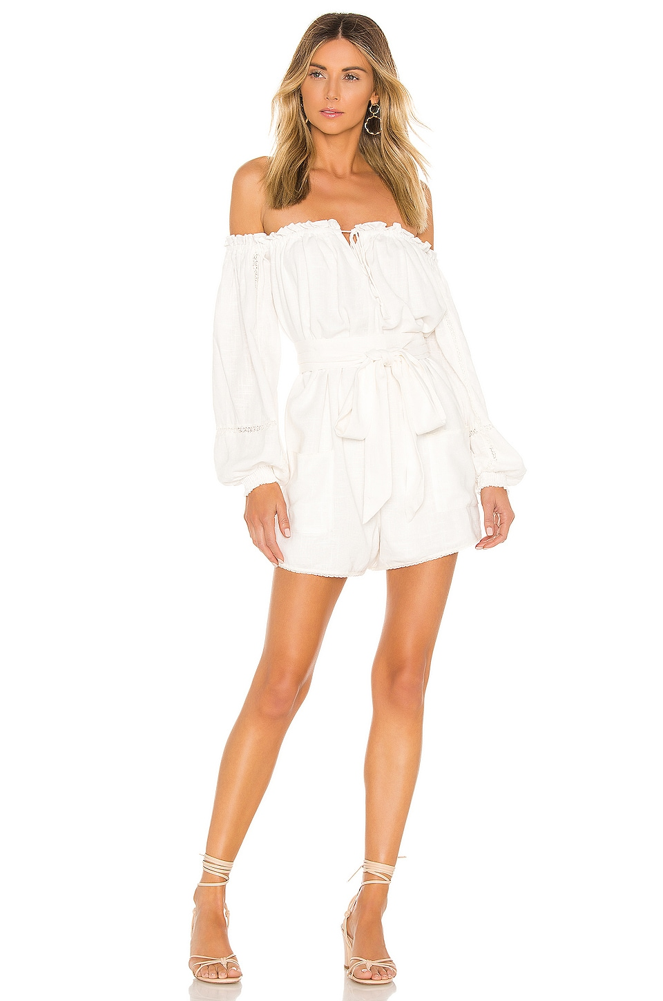 Spell & The Gypsy Collective Milla Romper in Off White