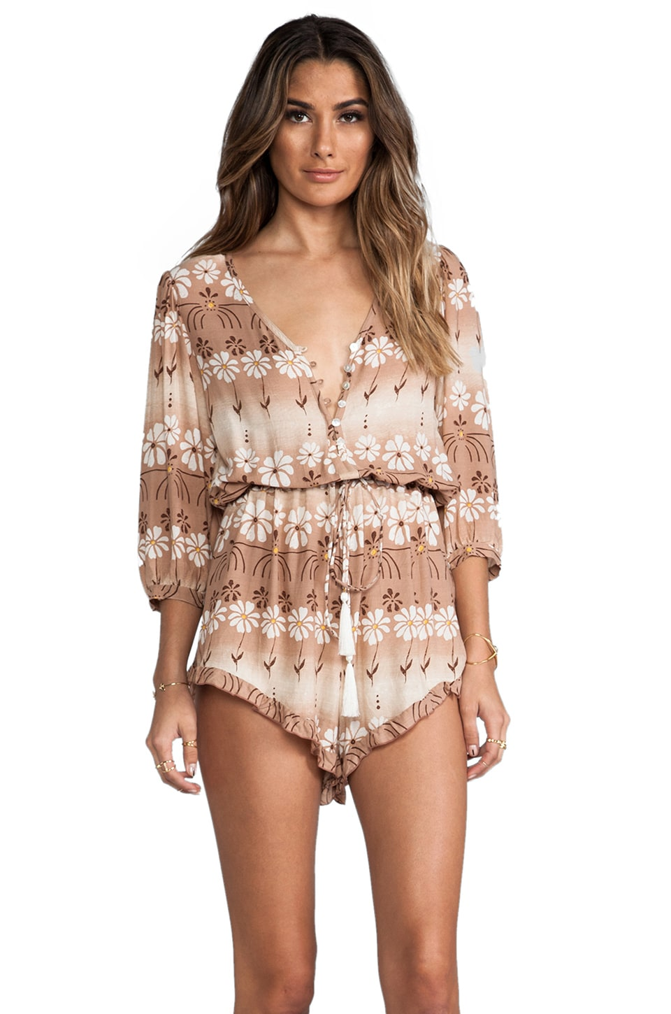 Spell & The Gypsy Collective The Daisy Chain Playsuit in Daisey Chain
