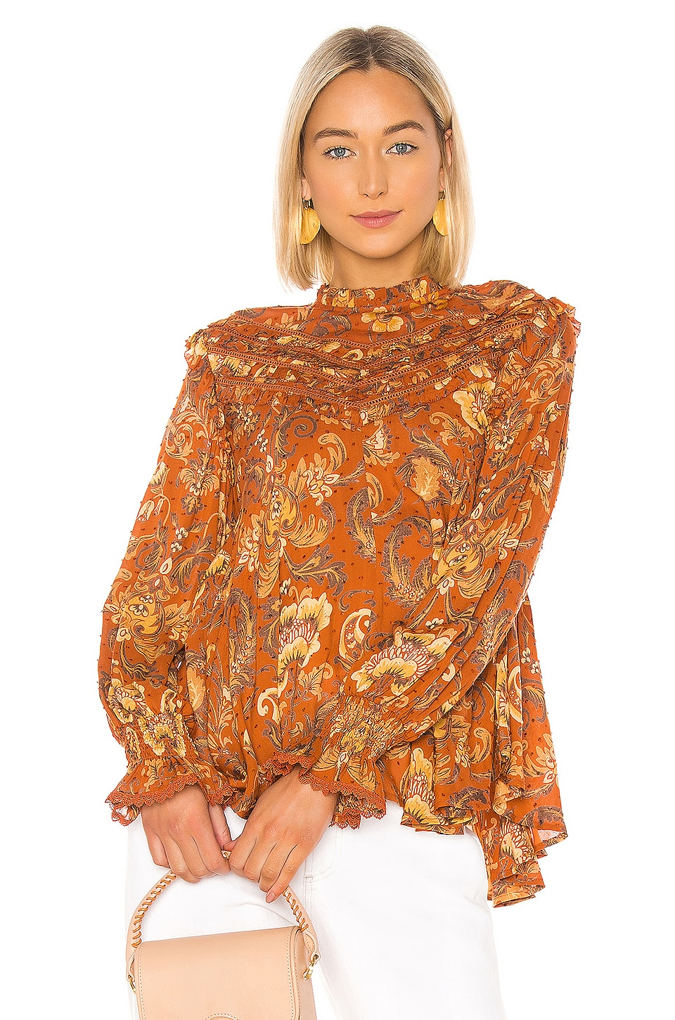 Spell & The Gypsy Collective Aurora Blouse in Burnt Ember