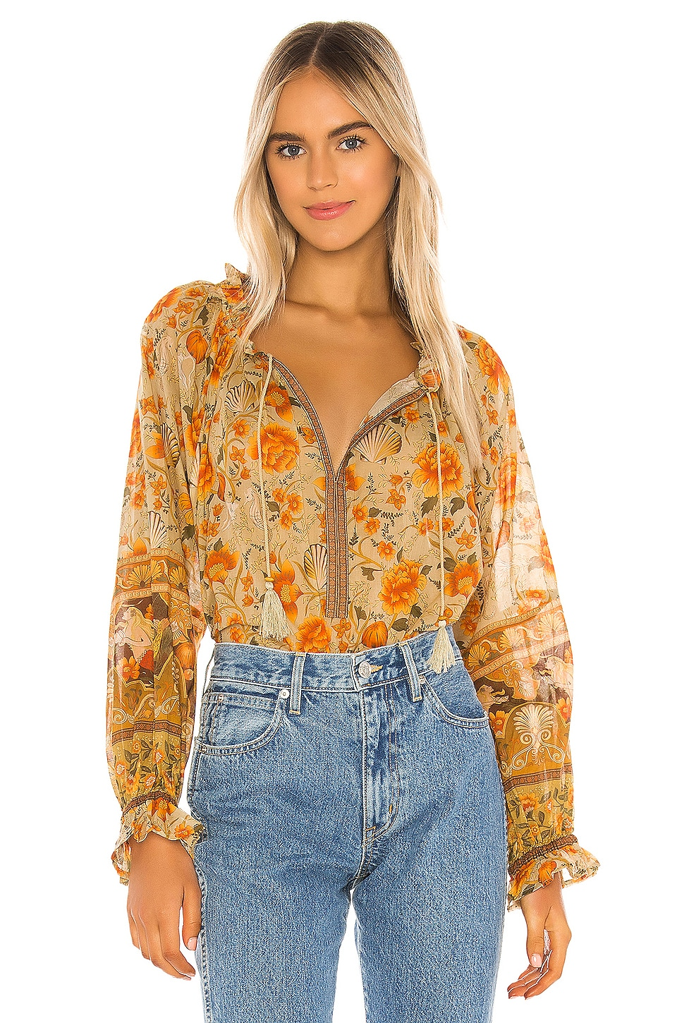 Spell & The Gypsy Collective Seashell Blouse in Sand
