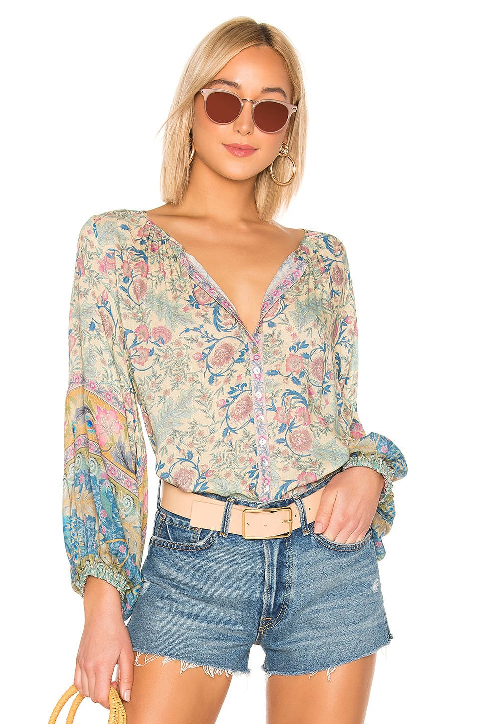 Spell & The Gypsy Collective Oasis Blouse in Opal